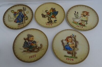 Lot of 5 West German MJ Hummel Plates 1972-1976 W Goebel