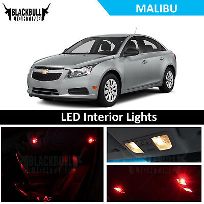 Red Led Interior Lights Accessories Package Kit Fits 2008 2017 Chevrolet Malibu