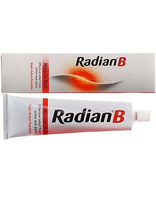 Radian B Muscle Rub  Painkiller Multi Action  Aches Pain Relief Menthol 40g.