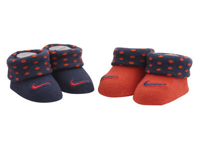 Nike Infant Boy's 2-Pairs Habanero Red Polka Dot Booties Sz. 0-6 Months