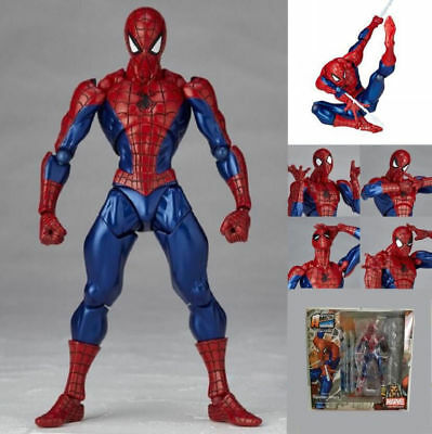 """Amazing Spider-M Revoltech Series No.002 6"""" PVC Action Figure Toy Gift"""