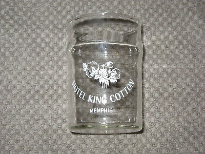 Rare Historic Advertising Hotel King Cotton Drinking Glass The Elks Club Memphis