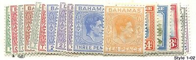 Bahamas #100-112 Mint F/vf