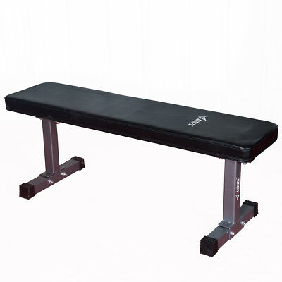 Flat Utility Bench Strength Training Home Gym Lifting Weight Workout Exercise
