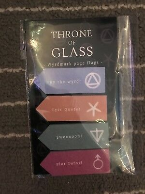 May Fairyloot Throne of Glass Page Flags
