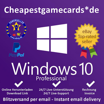 MS Windows 7/8.1/10 Home/Pro/Ultimate OEM 1/2/3/4/5 PC Produkt Key per Email