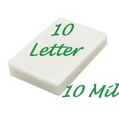 10 Letter 10 Mil Laminating Pouches Laminator Sheets 9 x 11-1/2 Scotch Quality
