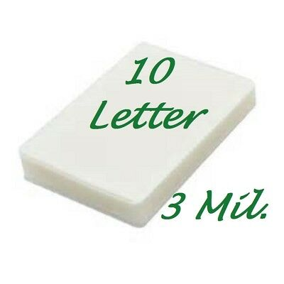 10 Letter 3 Mil Laminating Pouches Laminator Sheets 9 x 11-1/2 Scotch Quality