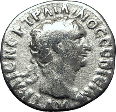 TRAJAN  98AD Caesarea Authentic Ancient Silver Roman Coin Clasped hands i70277