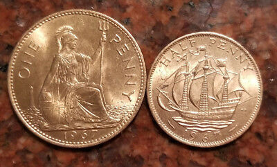 Lot Of (2) 1967 Uncirculated Great Britain Coins - #2683