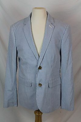 3fbcaf031 J.Crew Crewcuts Boys $158 Ludlow Suit Jacket in Seersucker Blue NWT 14 39853