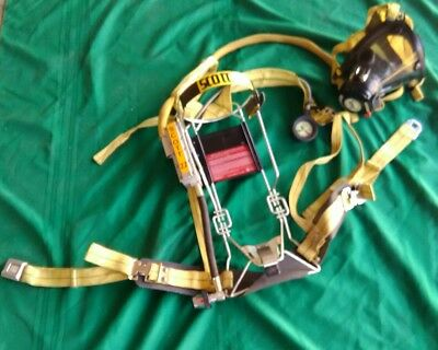 Scott 2.2 SCBA Air Pack Harness Firefighter Air Pak Great Condition W/ Case