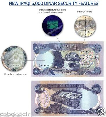New 5000 New Dinars- Circulated -Good Condition