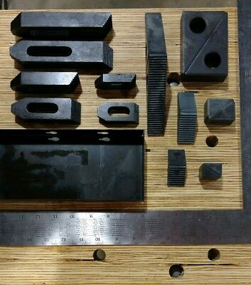 """TE-CO 21002 Steel Step Block and Clamp Set for 1/2"""" Studs (New!)"""