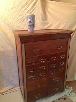 Beautiful Antique Cabinet. Apothecary? Filing?