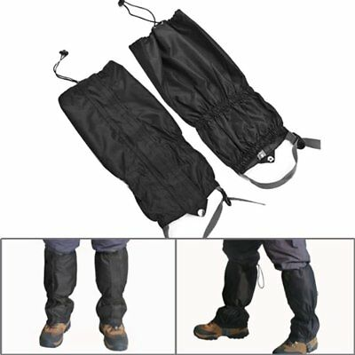 Black Waterproof Outdoor Climbing Hiking Snow Ski Gaiters Leg Cover Boot Legging
