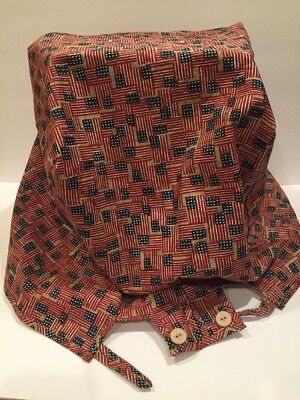 Longaberger Old Glory Large Picnic Basket Fabric Liner Only NEW Unused GREAT!!