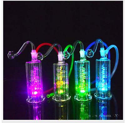 """LED light Mini Hookah/Water Pipe 4.5"""" inch Tall Pipes 10mm Joint"""