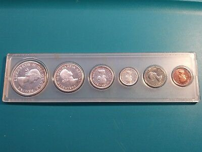1959 Royal Canadian Mint Proof-Like 6 coin set, 80% silver,in holder.