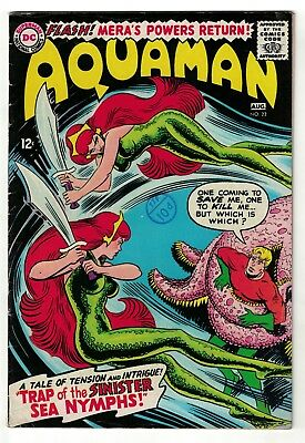 DC Comics AQUAMAN 1  22  SILVER AGE justice league 5.5 FN- 1965