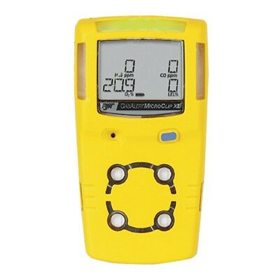 Gas Alert Microclip XL Gas Detector/Monitor Confined Space H2S, CO, O2, LEL