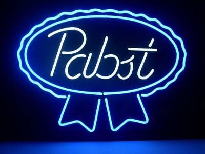 """Pabst Blue Ribbon Lager Ale Neon Sign Store Beer Bar Pub Mancave Sign17""""X14""""Z286"""