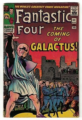 Marvel comics Fantastic four 48 Galactus 1st appearance 1965  FN- 5.5