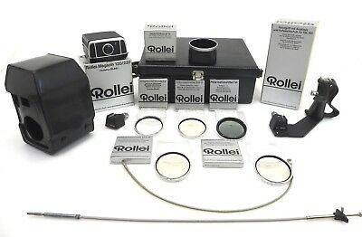 Rolleiflex SL66 Magazin 120 Grip hood filter ever ready case bag suitcase  id026