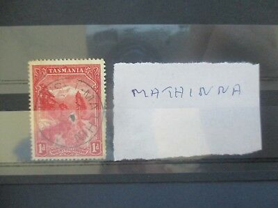 Tasmania Stamps: Postmark selection - Rare items must have  (v108