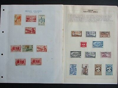 ESTATE: French Colonies Collection on pages - great item (1949)