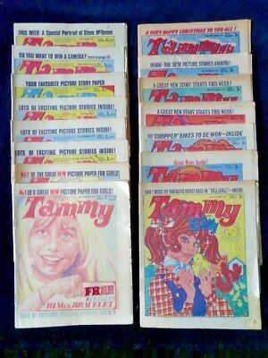 Tammy comics 1971, 15 including first  8 and Xmas, but only f-g condition.