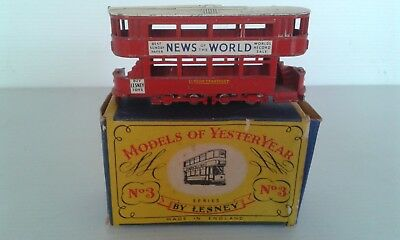 Vintage  Matchbox Models Of Yesteryear No. 3 Trolley  Bus