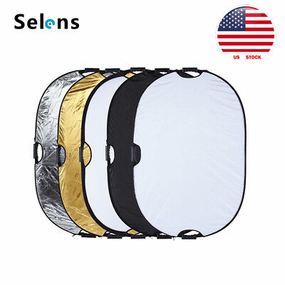 """Selens 5in1 Mulit Collapsible Portable Light Photo Reflector 32x48"""" US STOCK"""