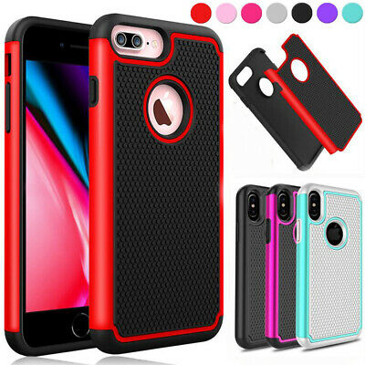 iPhone X XS MAX XR 8 7 6S Plus 5S SE Heavy Duty Shockproof Cover Case For Apple