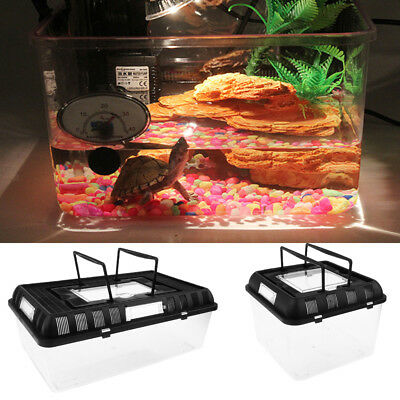 Reptile Pet House Tarantula,Spider,Insect,Cage,Tank.Plastic Box w/ Carry Handle