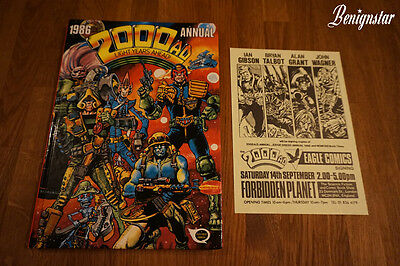2000AD Comic Annual 1986 Signed