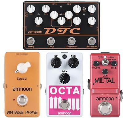 Guitar Effect Pedal Octave Distortion Overdrive Loop Delay Phaser 4 Kinds C4O1