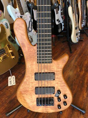 Wolf S8-5 string Bass Guitar Natural matte