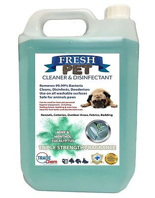 Pet Kennel Dog Disinfectant Fresh Cleaner  EUCALYPTUS Triple STRENGTH Fragrance
