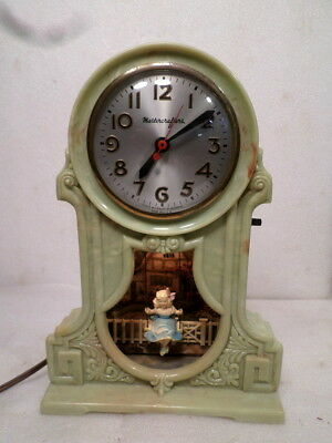 Collectable Mastercrafter's Girl On A Swing Clock--Good Working Condition