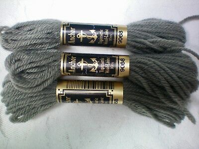 NEW Anchor Tapestry Tapisserie Wool 3 x 10m Skein Shade 9772-100/% Wool 30m