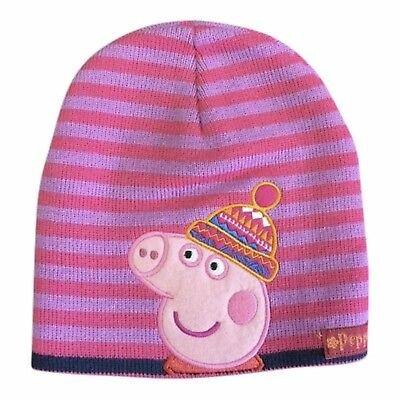 Peppa Pig Winter Hat Knitted Child's Girls Pink Peppa's Hat Beanie New With Tag