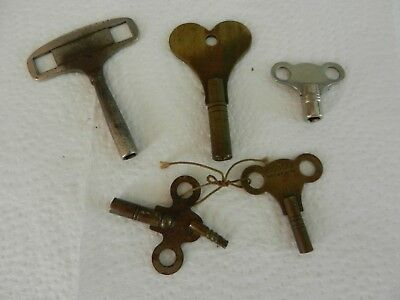 Vintage Collection of Clock Keys including Pioneer