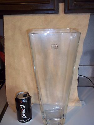 Handcrafted Mouthblown Tall Clear Glass Floor Vase Lsa Intl Poland