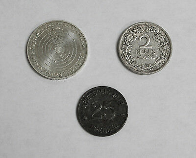 Germany Collector Lot of 3 Old Pfennig & Mark Coins