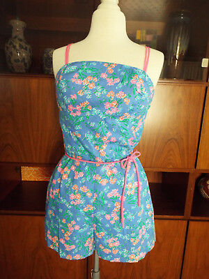 Cute New Old Stock Vintage 60s 70s Sea Waves 14 Romper Shorts Pin Up Rockabilly