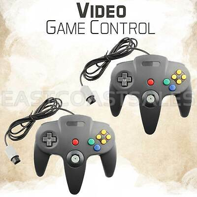 2x Remote Controller Video Game System Pad for Nintendo 64 N64 Gray Grey US Ship