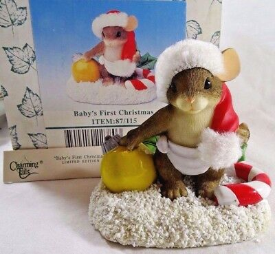 Charming Tails Figurine Baby's First Christmas