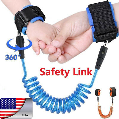 US Kids Anti Lost Safety Wrist Link Harness Strap Rope Leash Walking Hand Belt