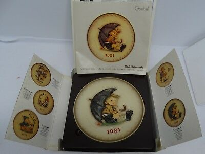 Vintage 1981 West German MJ Hummel W Goebel Decorative Plate in Original Box